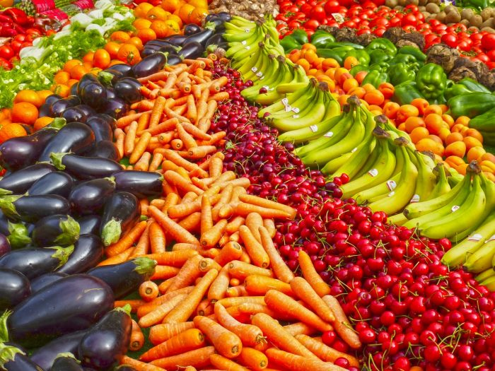 abundant harvest of fruits and vegetables